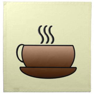 Steaming Coffee Mug Napkin