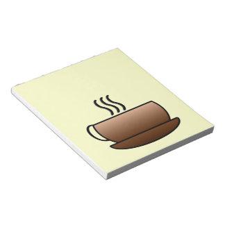 Steaming Coffee Mug Notepad