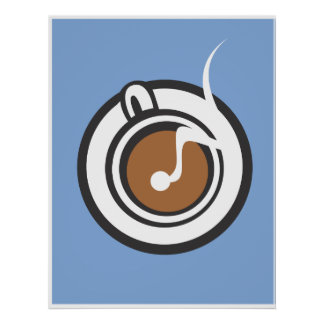 Steaming Coffee Mug Poster
