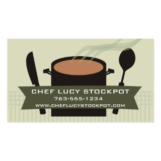 steaming cooking pot knife spoon chef business ... business card templates