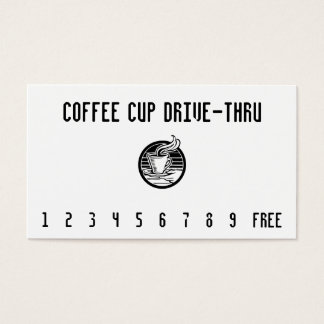 Steaming Cup in Hand Punchcard