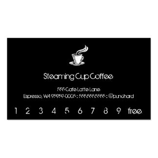 Steaming Cup Punch-Card / Loyalty Business Cards