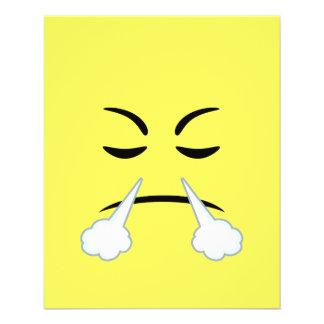 Steaming Emoji 11.5 Cm X 14 Cm Flyer