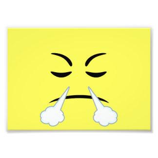 Steaming Emoji Photo Print