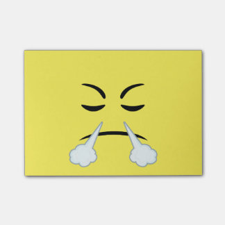 Steaming Emoji Post-it Notes