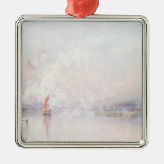 Steaming into Lincoln, 1894 Silver-Colored Square Decoration