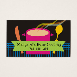 steaming soup stew knife spoon chef business cards