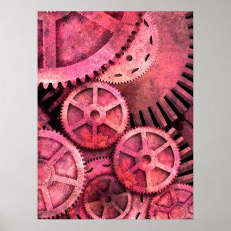 Steampink Pink Steampunk Print