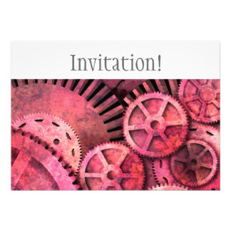 Steampink Steampunk Gears Personalized Announcement