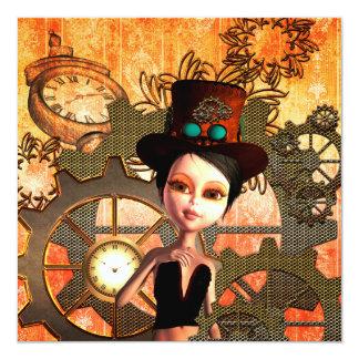 Steampunk 13 Cm X 13 Cm Square Invitation Card