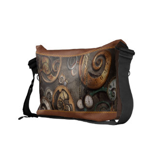 Steampunk - Abstract - Time is complicated Messenger Bag