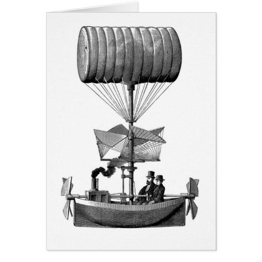 Steampunk Airship Card