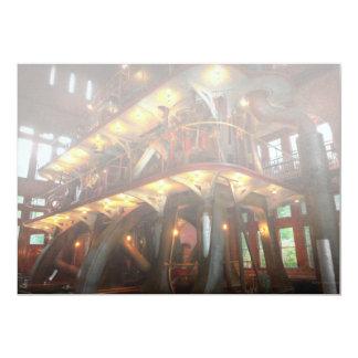 Steampunk - Allis does all the work 13 Cm X 18 Cm Invitation Card