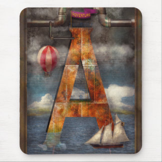 Steampunk - Alphabet - A is for Adventure Mouse Pad