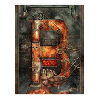 Steampunk - Alphabet - B is for Belts Flyers