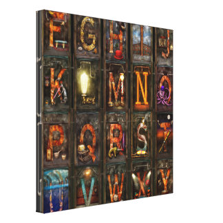 Steampunk - Alphabet - Complete Alphabet Gallery Wrapped Canvas