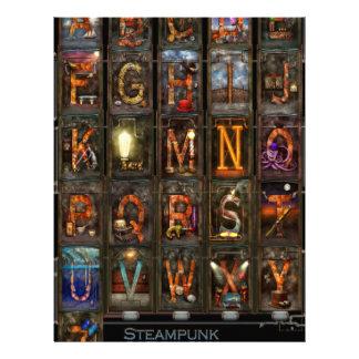 Steampunk - Alphabet - Complete Alphabet Flyer Design