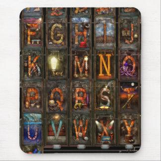 Steampunk - Alphabet - Complete Alphabet Mouse Pads