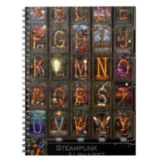 Steampunk - Alphabet - Complete Alphabet Note Books
