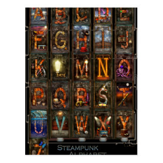 Steampunk - Alphabet - Complete Alphabet Postcard