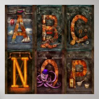 Steampunk - Alphabet - Complete Alphabet Posters
