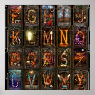 Steampunk - Alphabet - Complete Alphabet Poster