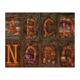 Steampunk - Alphabet - Complete Alphabet Cork Paper Prints