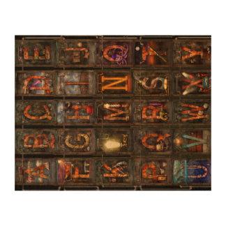 Steampunk - Alphabet - Complete Alphabet Photo Cork Paper