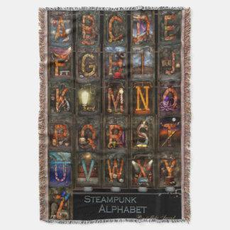 Steampunk - Alphabet - Complete Alphabet Throw Blanket