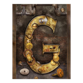 Steampunk - Alphabet - G is for Gears Personalized Flyer