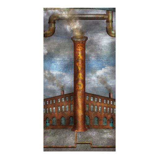 Steampunk - Alphabet - I is for Industry Photo Greeting Card