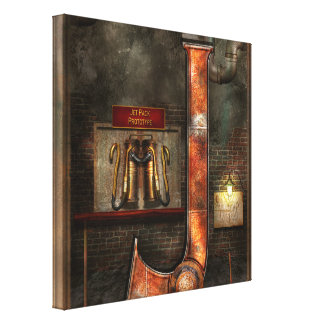 Steampunk - Alphabet - J is for Jet Pack Gallery Wrap Canvas