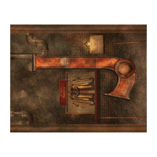 Steampunk - Alphabet - J is for Jet Pack Cork Paper Print