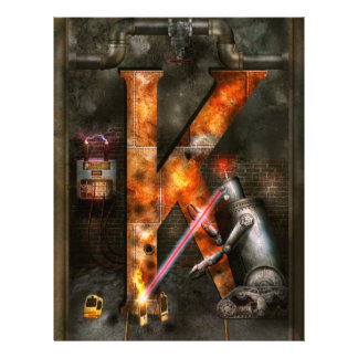 Steampunk - Alphabet - K is for Killer Robots Full Color Flyer