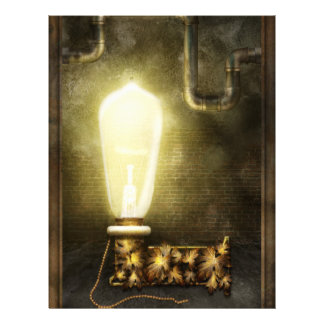 Steampunk - Alphabet - L is for Light Bulb Personalized Flyer