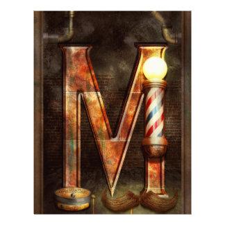 Steampunk - Alphabet - M is for Mustache 21.5 Cm X 28 Cm Flyer