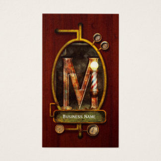 Steampunk - Alphabet - M is for Mustache Business Card