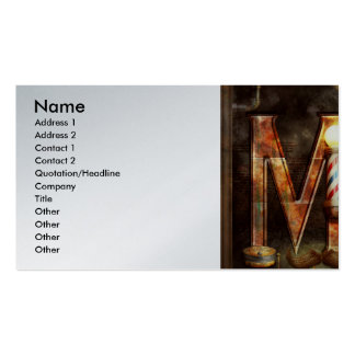Steampunk - Alphabet - M is for Mustache Pack Of Standard Business Cards