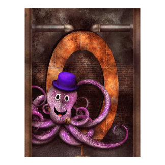 Steampunk - Alphabet - O is for Octopus Custom Flyer