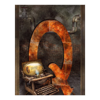Steampunk - Alphabet - Q is for Qwerty 21.5 Cm X 28 Cm Flyer