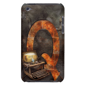 Steampunk - Alphabet - Q is for Qwerty iPod Touch Case