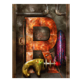 Steampunk - Alphabet - R is for Ray Gun Full Color Flyer