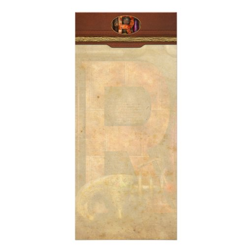 Steampunk - Alphabet - R is for Ray Gun Custom Rack Card