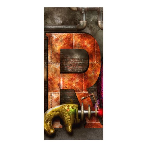 Steampunk - Alphabet - R is for Ray Gun Rack Cards