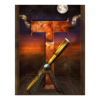 Steampunk - Alphabet - T is for Telescope Flyer