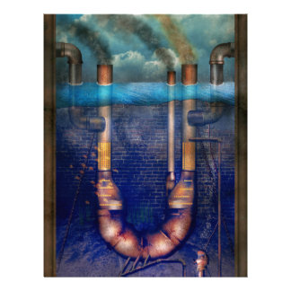 Steampunk - Alphabet - U is for Underwater Utopia Flyer Design