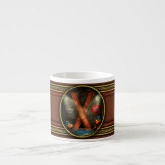 Steampunk - Alphabet - X is for Xenobiology Espresso Mug