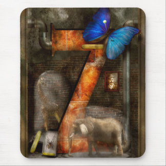 Steampunk - Alphabet - Z is for Zoology Mousepads