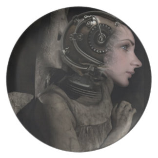Steampunk Angel Plate
