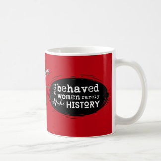 Steampunk Armadillo Bat, Red, Well Behaved Women Coffee Mug